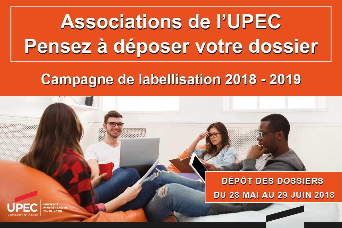 Associations étudiantes : faites-vous labelliser pour 2018-2019 !