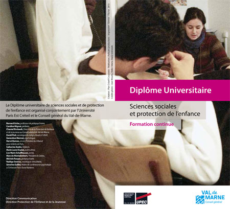 Plaquette DU de Sciences sociales et protection de l'enfance